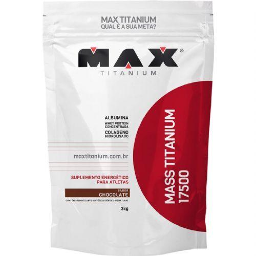 Mass Titanium 17500 - 3000g Refil Chocolate - Max Titanium no Atacado