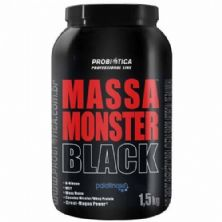 Massa Monster Black - 1,5 Kg Baunilha - Probiótica
