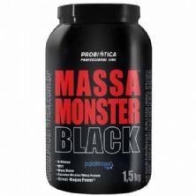 Massa Monster Black - 1,5 Kg Morango - Probiótica
