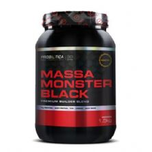Massa Monster Black Nova Formula - 1,5 Kg Morango - Probiótica*** Data Venc. 30/04/2018
