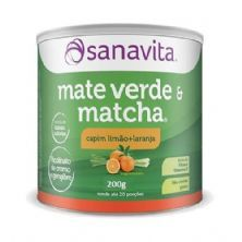 Mate Verde e Matcha - Sabor Capim Limão e Laranja 200g - Sanavita