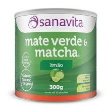 Mate Verde & Matcha - 300g Limão - Sanavita