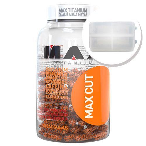 Max Cut - 60 Capsulas + Porta Cápsulas transparente - Max Titanium no Atacado