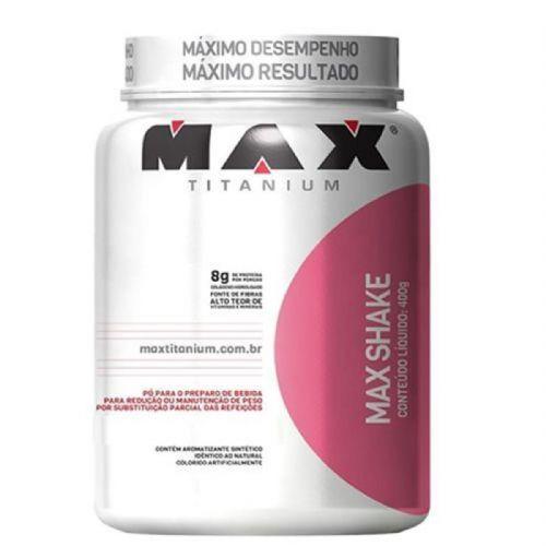 Max Shake -  400g Morango - Max Titanium no Atacado