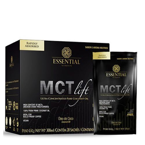 MCT Lift - 300ml - 20 sachês - Aroma Neutro - Essential Nutrition