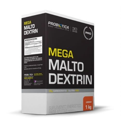 Mega Maltodextrin - 1 Kg Laranja - Probiótica no Atacado