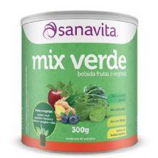 Mix Verde - 300g Frutas e Vegetais - Sanavita