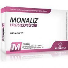Monaliz Meu controle - 30 Comprimidos - Sanibras