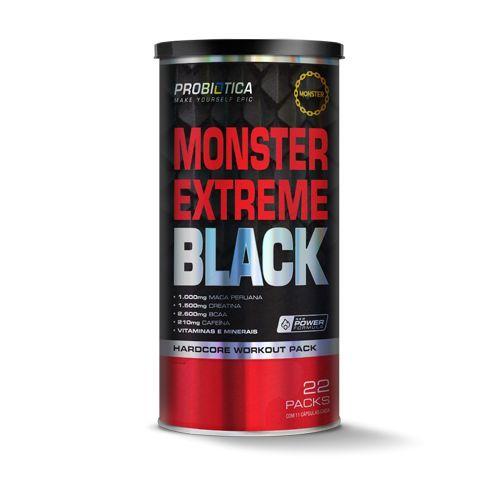 Monster Extreme Black - New Power Formula - 22 packs - Probiótica