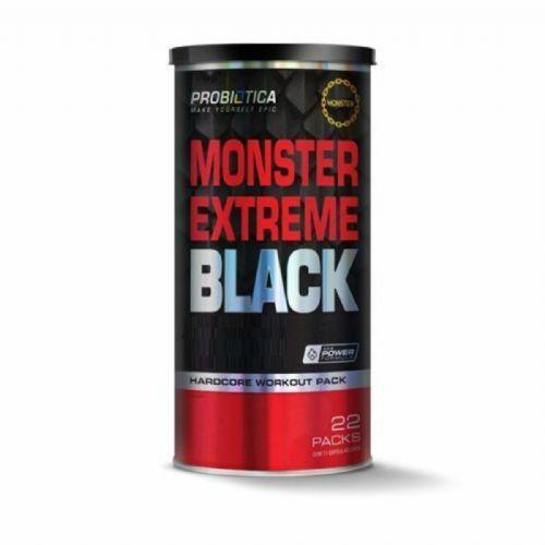 Monster Extreme Black New Power Formula - 22 Packs - Probiótica no Atacado