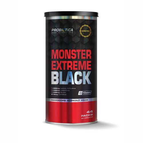 Monster Extreme Black - New Power Formula - 44 packs - Probiótica
