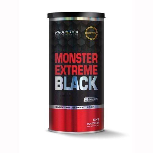 Monster Extreme Black New Power Formula - 44 Packs - Probiótica
