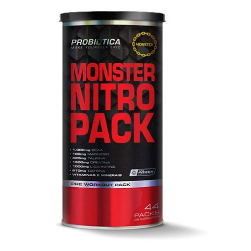 Monster Nitro Pack - 44 Packs - Nova Formula - Probiótica
