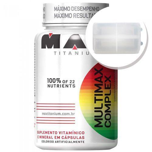 Multimax Complex - 90 cápsulas + Porta Cápsulas transparente - Max Titanium