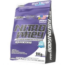 Nitro Whey Hardcore - 2000g Refil Morango - Body Nutry
