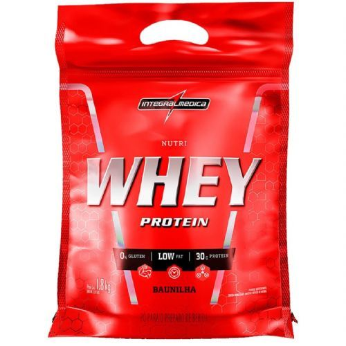 Nutri Whey Protein - 1800g Refil Baunilha - IntegralMédica no Atacado