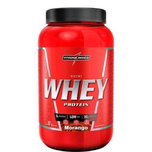 Nutri Whey Protein - 907g Morango - IntegralMédica no Atacado