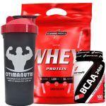 Nutri Whey Protein Refil 907g Chocolate + BCAA 2400 - 100 caps + Coqueteleira 600ml - Integralmédica no Atacado
