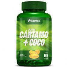 Óleo de Cártamo + Coco - 60 Cápsulas - Herbamed