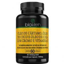Óleo de Cártamo, Óleo de Coco e Óleo de Chia com Cromo e Vitamina E - 60 Cápsulas - Bioklein