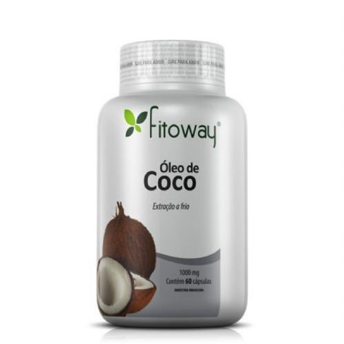 Oleo de Côco 1g - 60 Cápsulas - Fitoway no Atacado