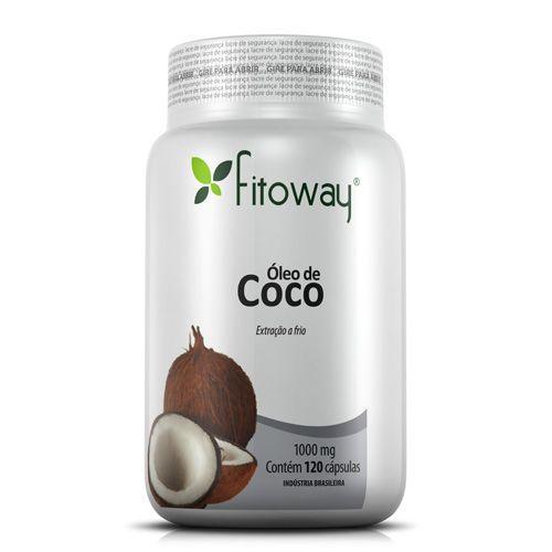 Oleo de Côco 1g - 120 Cápsulas - Fitoway no Atacado