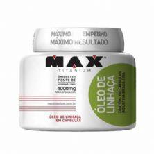 Óleo de Linhaça - 100 Cápsulas - Max Titanium