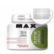 Óleo de Linhaça - 100 cápsulas + Porta Cápsulas transparente - Max Titanium