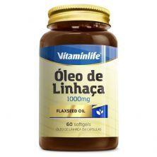 Óleo de Linhaça 1000mg - 60 Cápsulas - Vitaminlife