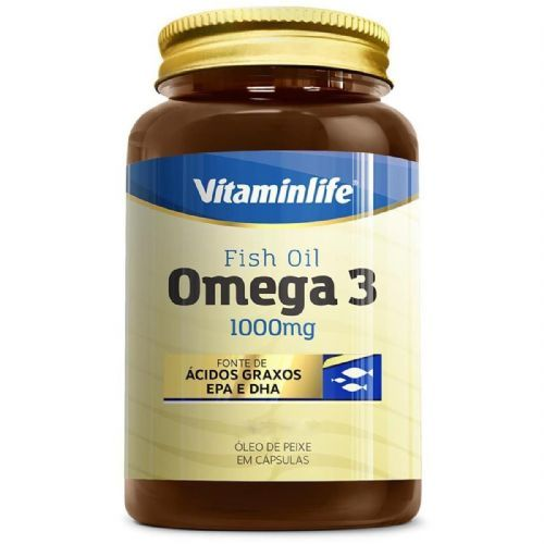Omega 3 1000mg - 120 Cápsulas - VitaminLife no Atacado