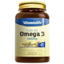 Omega 3 1000mg - 200 Cápsulas - VitaminLife
