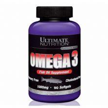 Ômega 3 1000mg - 90 Softgels Ultimate Nutrition*** Data Venc. 30/09/2021