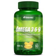 Ômega 3, 6 e 9 Linhaça, Prímula E Borragem + Vitamina E - 60 Cápsulas - Herbamed