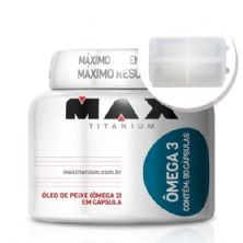 Ômega 3 - 90 cápsulas + Porta Cápsulas transparente - Max Titanium