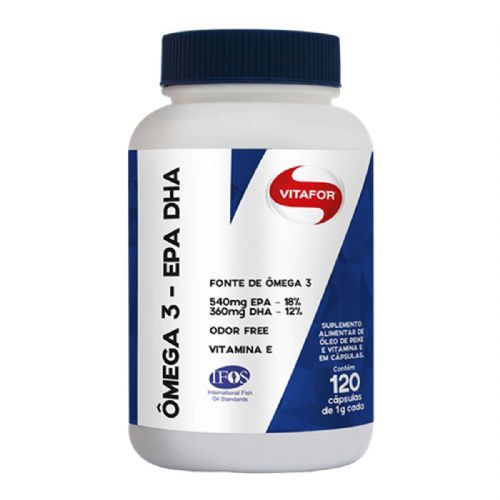 Omega 3 EPA DHA - 120 Cápsulas 1g - Vitafor no Atacado