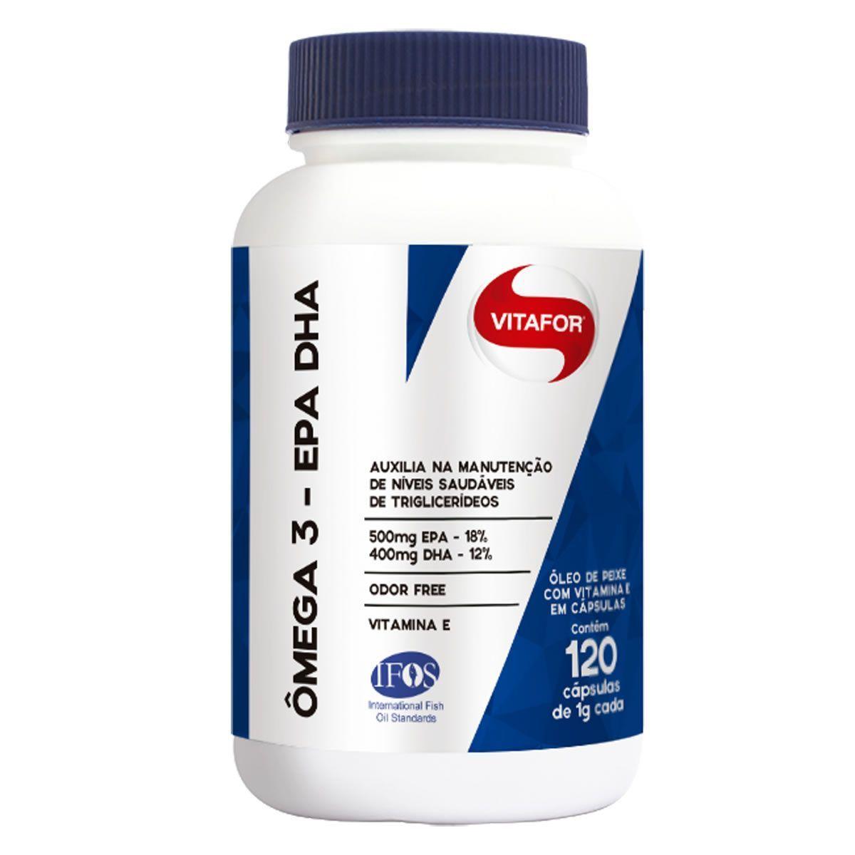 Omega 3 EPA DHA (Omegafor) - 120 Cápsulas 1g - Vitafor