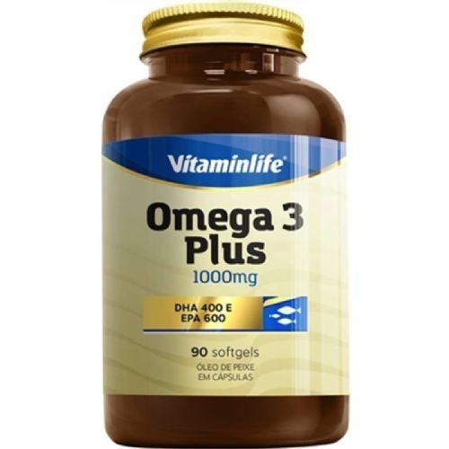 Omega 3 + Plus 1000mg - 90 Softgels - VitaminLife no Atacado