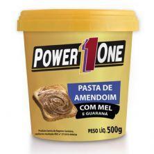 Pasta de Amendoim com Mel e Guaraná - 500g - Power One