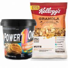 Pasta de Amendoim Integral 1000g + Granola Integral 200g Nuts - Kellogg's