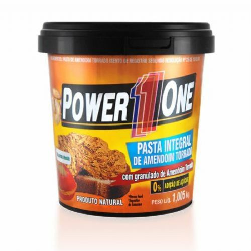 Pasta de Amendoim Integral Crocante - 1000g - Power One no Atacado