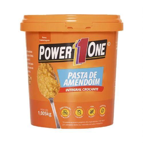 Pasta de Amendoim Integral Crocante - 1000g - Power One no Atacado