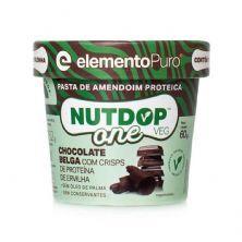 Pasta de Amendoim Nutdop One Vegan - 1 Unidade 60g Chocolate Belga - ElementoPuro