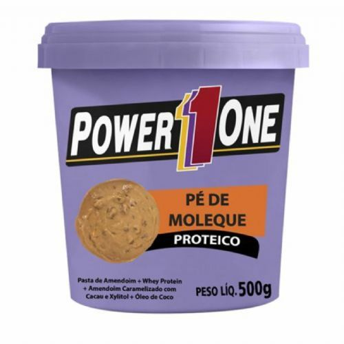 Pasta de Amendoim Pé de Moleque - 500g - Power One no Atacado