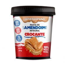 Pasta Integral de Amendoim - 500g Crocante– AmendoMaxi