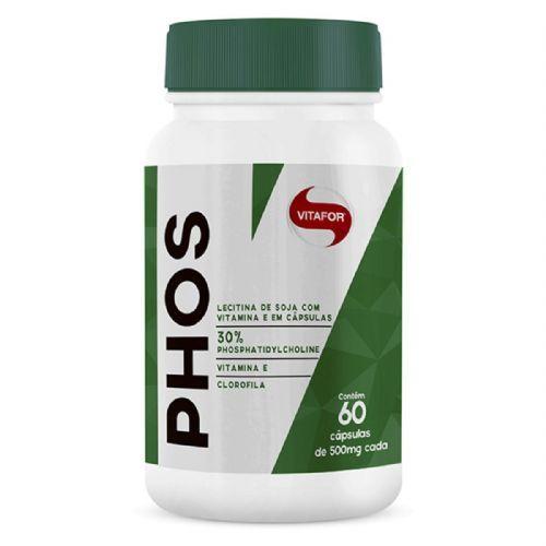 Phos Lecitina de Soja - 60 Cápsulas - Vitafor no Atacado