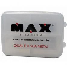 Porta Comprimidos-Cápsulas - transparente - Max Titanium