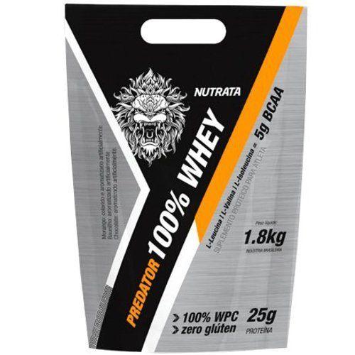 Predator 100% Whey - 1800g Morango - Nutrata no Atacado