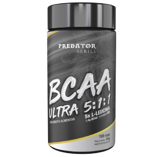 Predator BCAA Ultra 5:1:1 - 120 Cápsulas - Nutrata no Atacado