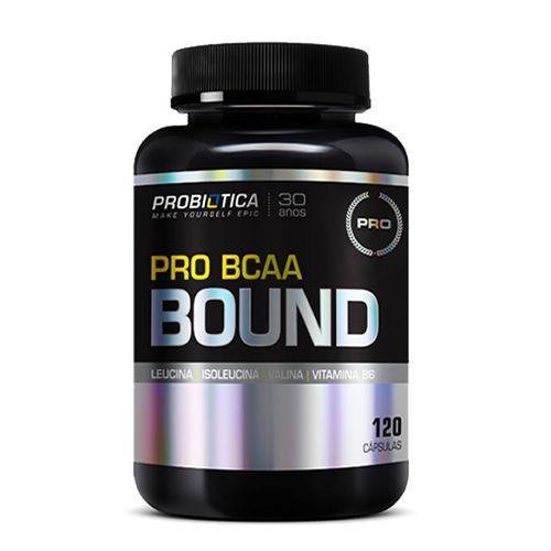 Pro BCAA Bound - 120 Cápsulas - Probiótica no Atacado