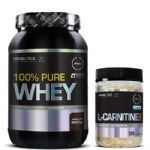 Promopack 100% Whey Chocolate 900g + L-Carnitina 120 cápsulas - Probiótica
